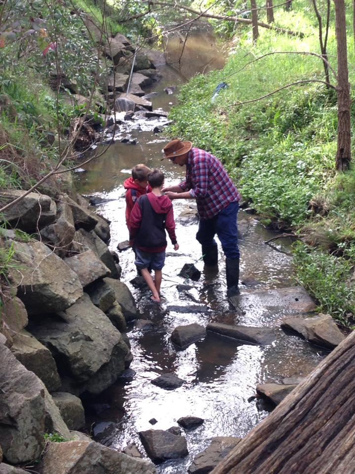 Checking for aquatic creatures